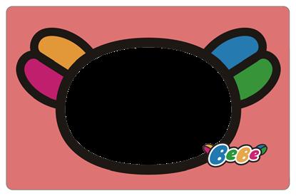 圖片 Bebe卡框-可愛剪影