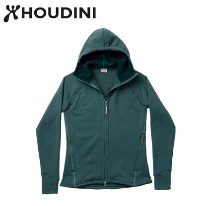 圖片 瑞典【Houdini】W`s Power Houdini 女款Power Stretch® Pro™保暖外套貪婪綠