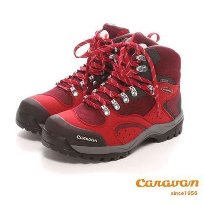 圖片 【日本Caravan】 C1_02S 中筒登山健行鞋 (紅)