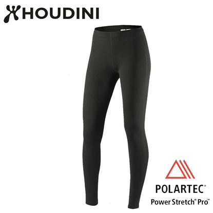 圖片 瑞典【Houdini】W's Long Power Tights 女款Power Stretch® Pro™保暖褲 純黑