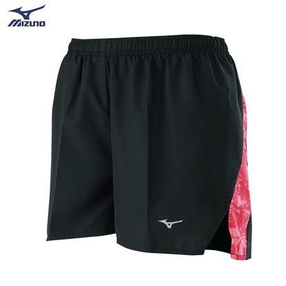 圖片 【 美津濃MIZUNO】女款路跑短褲(黑X莓果紅)