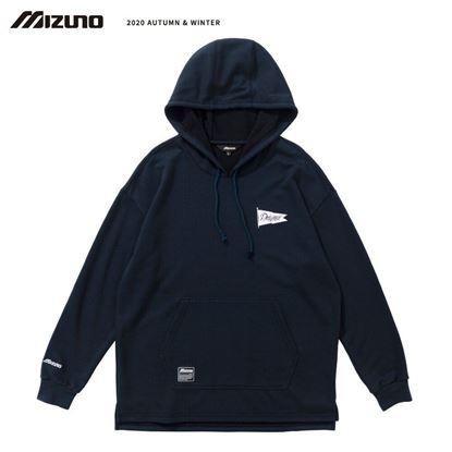 圖片 【 美津濃MIZUNO】 男款長袖連帽T恤(深丈青)