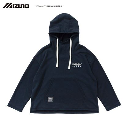 圖片 【 美津濃MIZUNO】 女款連帽T恤 (深丈青)