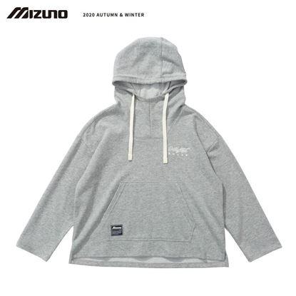 圖片 【 美津濃MIZUNO】 女款連帽T恤 (灰)