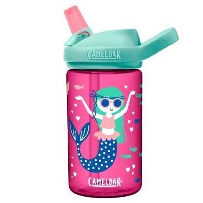 圖片 【CamelBak】400ml eddy+兒童吸管運動水瓶 美人魚女孩兒