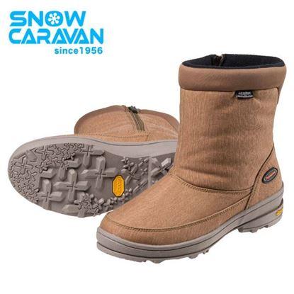 圖片 【日本Caravan 】SHC_31W 女性保暖防水中筒雪靴 淺棕