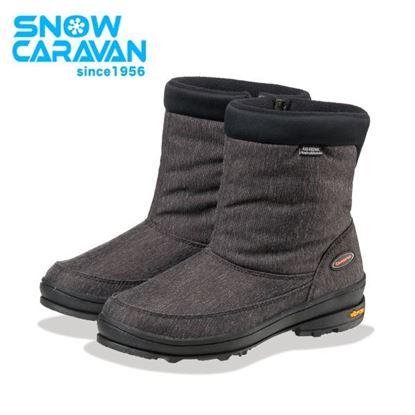 圖片 【日本Caravan 】SHC_31W 女性保暖防水中筒雪靴 黑