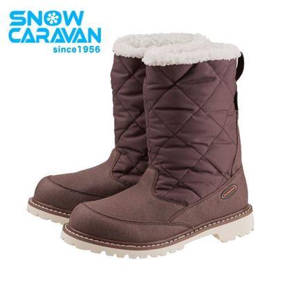 圖片 【日本Caravan 】SHC_7W 中性保暖防水中筒雪靴 褐