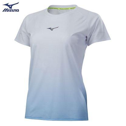 圖片 【美津濃MIZUNO】女款路跑短袖T恤-(白)