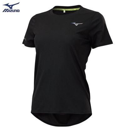 圖片 【美津濃MIZUNO】女款路跑短袖T恤-(黑)