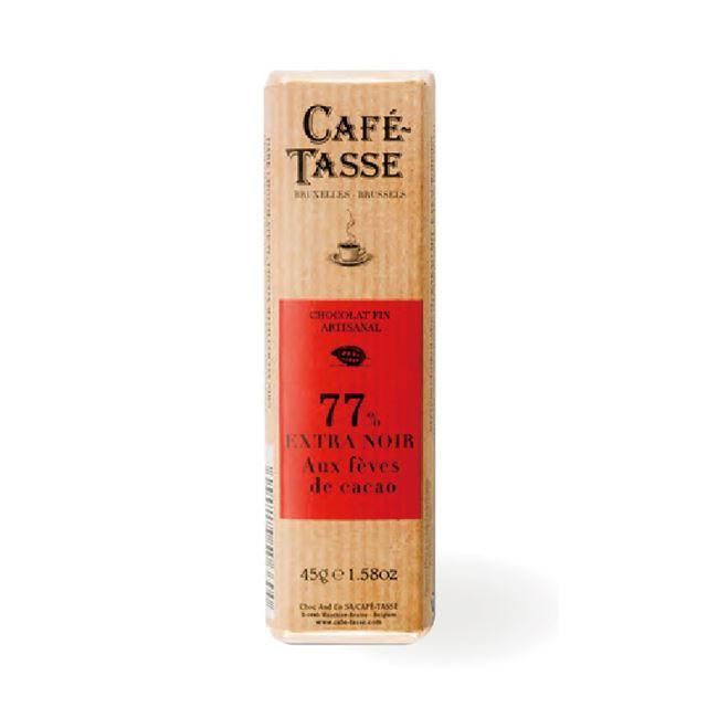 圖片 【CAFE TASSE】比利時黑巧克力-77%可可豆碎片45g-6入組