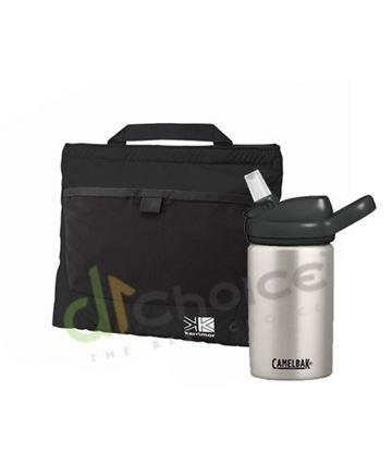 圖片 日系[ Karrimor ] Trek Carry Snack Pouch 隨身小物收納袋+350ML eddy+兒童吸管保冰/溫水瓶 經典銀