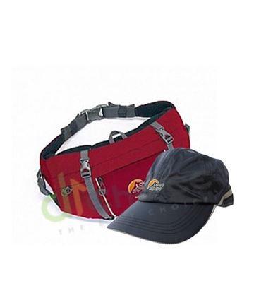 圖片 英國[Lowe Alpine]-Mesa腰包/6L-(紅/綠)+英國[Lowe Alpine]-Jeststream 2.5防水透氣帽(灰/黑)