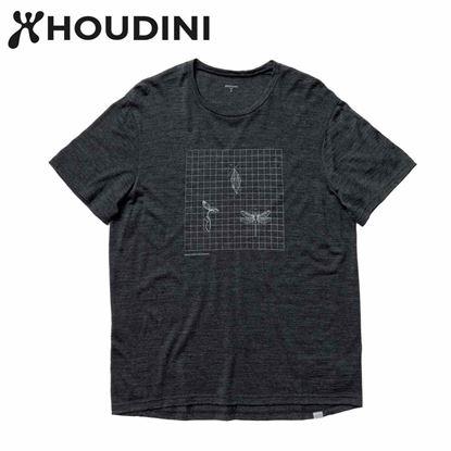 圖片 瑞典【Houdini】M`s Activist Tee Message 男 羊毛混紡天絲短袖 純黑