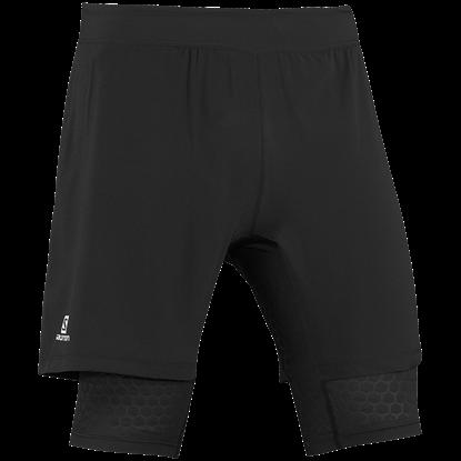 圖片 【Salomon】SA14 ExoWings Twinskin Short短褲黑