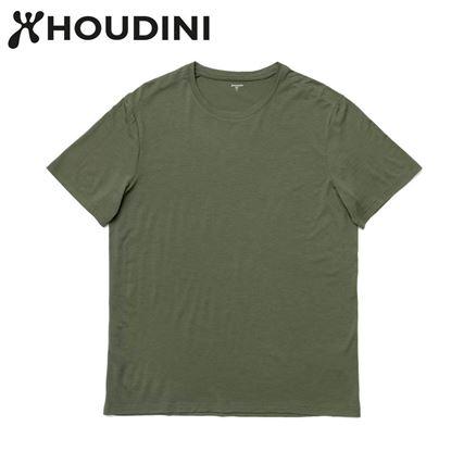 圖片 瑞典【Houdini】M`s Desoli Tee 男款美麗諾羊毛短袖內層衣 烏托邦綠