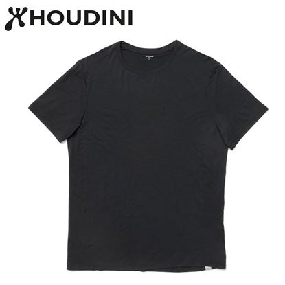 圖片 瑞典【Houdini】M`s Desoli Tee 男款美麗諾羊毛短袖內層衣 純黑