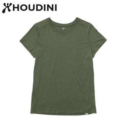圖片 瑞典【Houdini】W`s Desoli Tee 女款美麗諾羊毛短袖內層衣 烏托邦綠