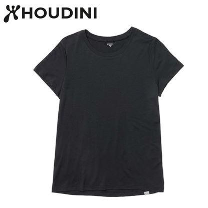 圖片 瑞典【Houdini】W`s Desoli Tee 女款美麗諾羊毛短袖內層衣 純黑