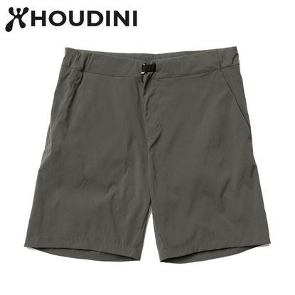 圖片 瑞典【Houdini】W's Wadi shorts 女夏季快乾短褲 裸印綠
