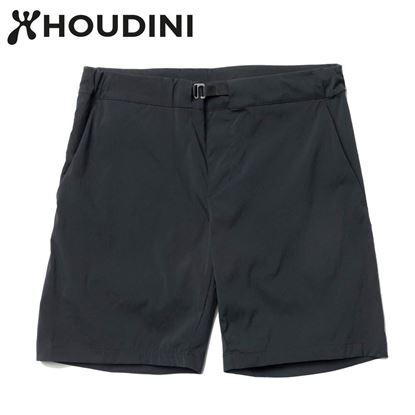 圖片 瑞典【Houdini】W's Wadi shorts 女夏季快乾短褲 純黑