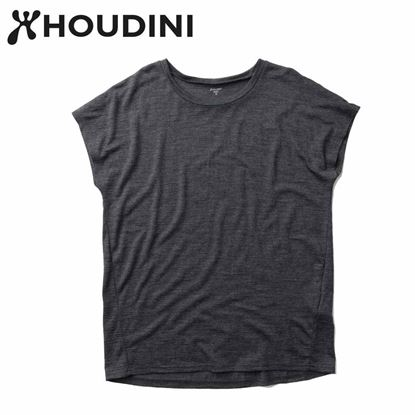 圖片 瑞典【Houdini】W`s Activist Tee 女 羊毛混紡天絲短袖 純黑