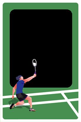 圖片 運動卡框-羽球