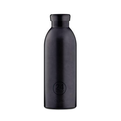 圖片 義大利 24Bottles 不鏽鋼雙層保溫瓶 500ml - 黑碧璽