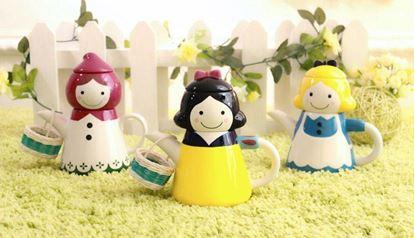 圖片 日本 sunart 杯壺組-艾莉絲/白雪公主