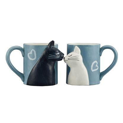 圖片 日本 sunart 對杯 - 貓貓親親